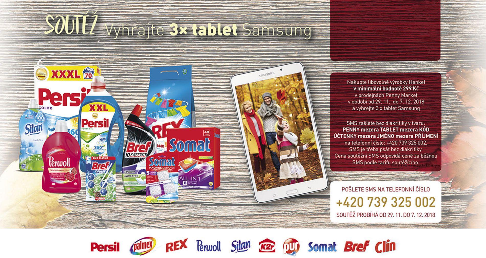 Penny – Soutez o tablet Samsung pozadi